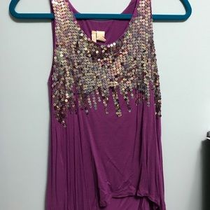 Red Camel sequin tank